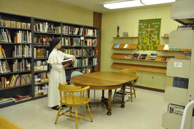 Dominican nun studying