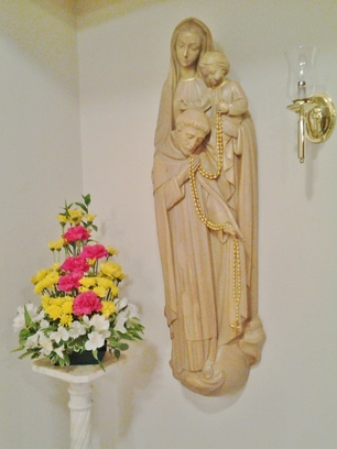 Rosary statue at the Dominican Monastery of the Infant Jesus, Lufkin TX