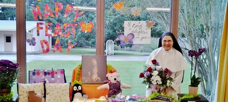 Dominican nun on her prioral feast day