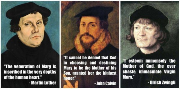 Even the leaders of the Protestant Reformation didn't see Mary as an obstacle.