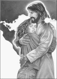 jesus hugging woman