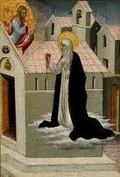 St. Catherine of Siena exposing heart to Jesus