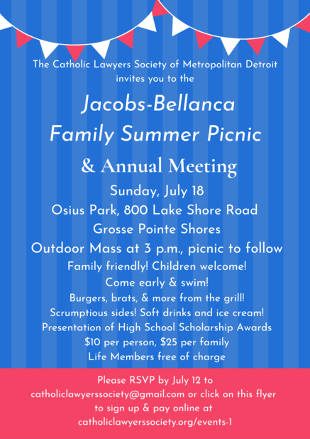 Family Summer Picnic, Mass, & Annual Meeting
