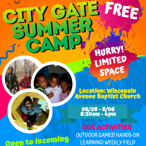 City Gate DC FREE Summer Camp for Kids!