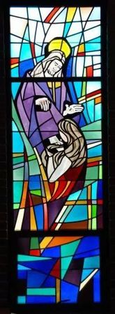 Reconcilation stained glass window