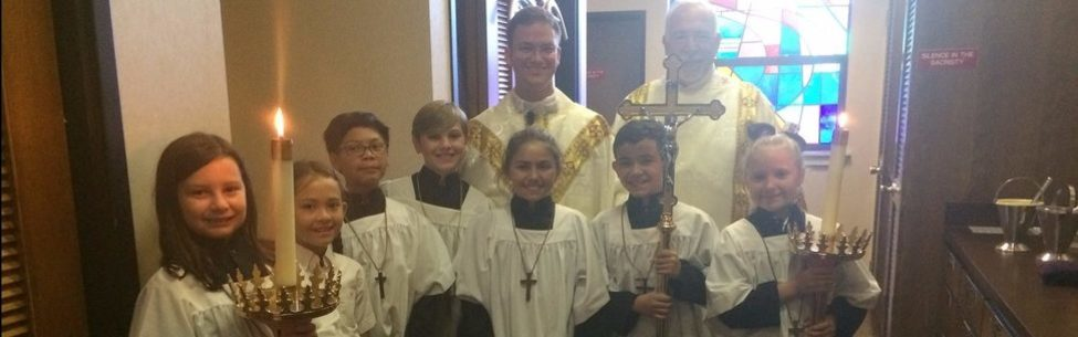 Altar Servers before Mass