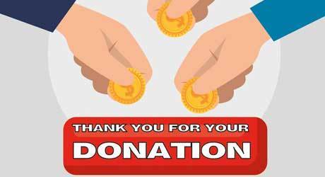 Thanks to your donation we are able to serve the community!