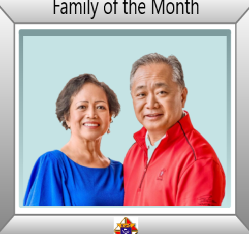January Family of the Month - Grace and Peter Tan