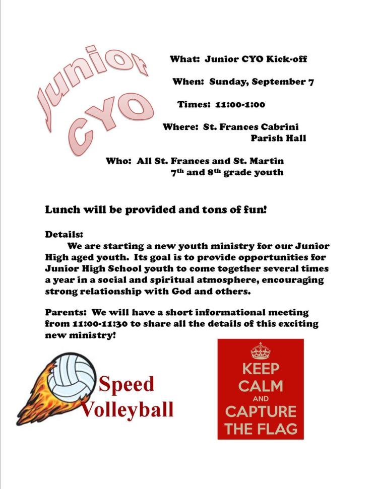 Junior CYO Kick-off