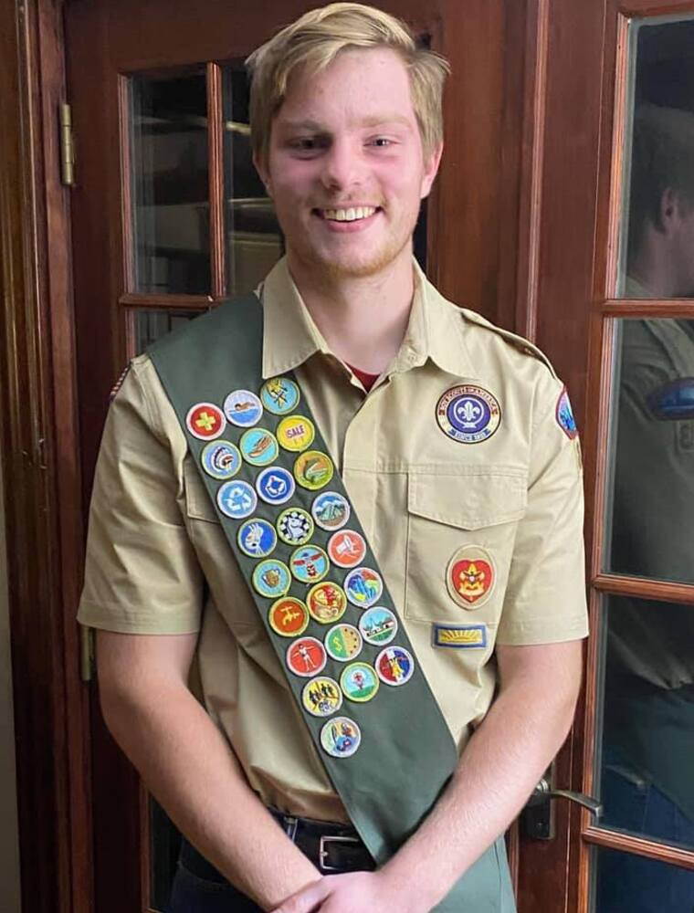 Patrick Boardway - Troop 83's newest Eagle Scout
