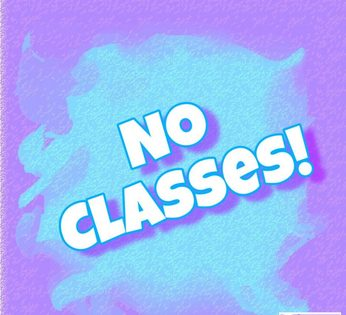 No CCE classes - No habra clases de CCE