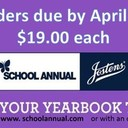 Don't forget to order your yearbooks! Orders due by April 23rd!