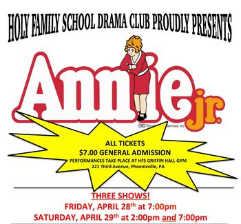 TICKETS ARE STILL AVAILABLE FOR TONIGHT'S PRESENTATION OF ANNIE JR.!