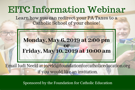 EITC Information Webinar on May 6 and May 9