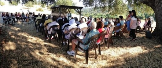St. Anthony Parish outdoor Mass under the oak tree on McKean Road in San Jose