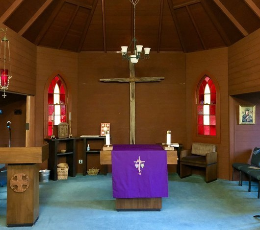 St. Anthony Historic Church sanctuary and altar New Almaden San Jose on Bertram Rd.
