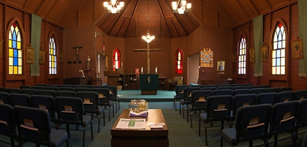 St. Anthony historic church inside view New Almaden San Jose on Bertram Rd.