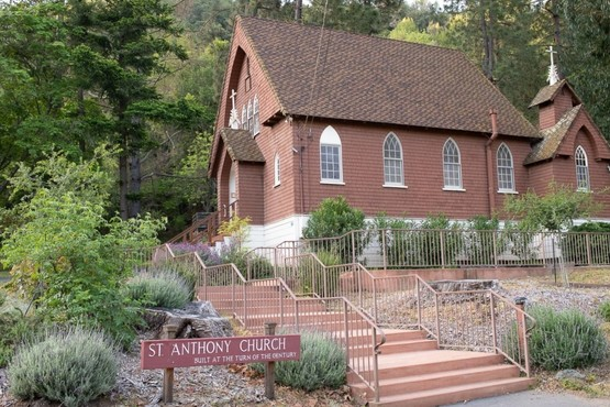 St. Anthony Catholic Church building in New Almaden, San Jose