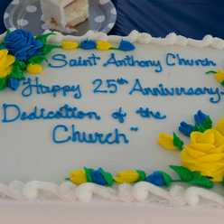 St Anthony parish 25th anniversary of McKean Road Church dedication cake.