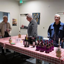 St Anthony parish San Jose pasta night men serve drinks.
