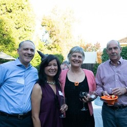 St Anthony parish in San Jose progressive dinner host couple and friends.