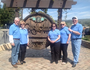 St. Anthony parish San Jose Seniors SAS group visits Guglielmo winery.