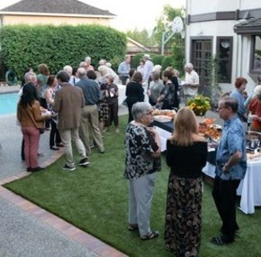 St Anthony parish Almaden San Jose gather backyard progressive dinner social