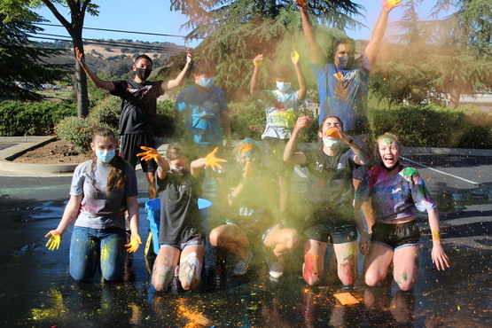 oasis teens celebrate with chalk