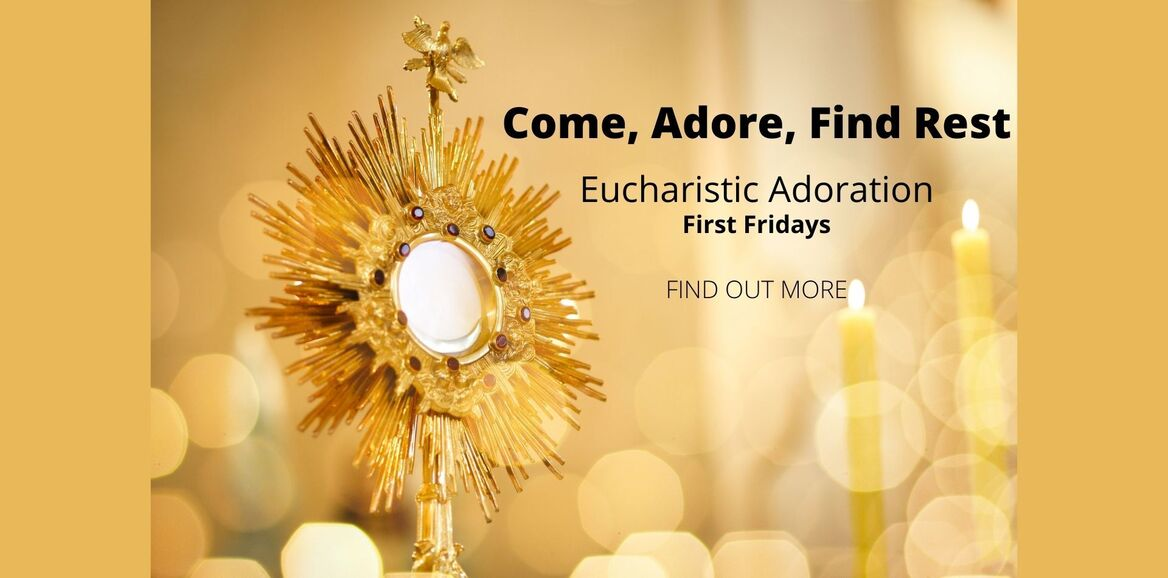 golden monstrance and candles