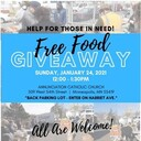 Free Food Giveaway - All Are Welcome!