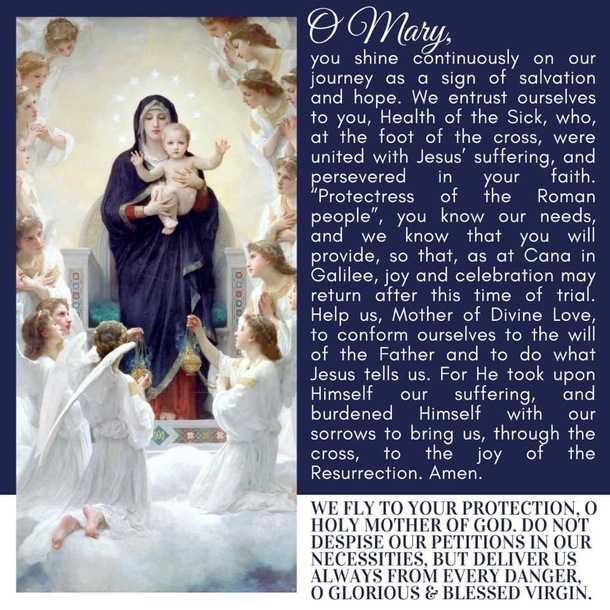 Prayer to be said at the end of the Holy Rosary, as requested by Pope Francis