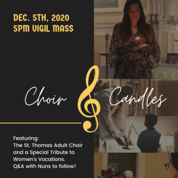 Choir & Candles Mass (Featuring Sisters and an invitation to Women's Vocations)