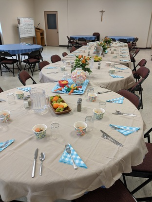 Hawaiian themed Northern Deanery Luncheon