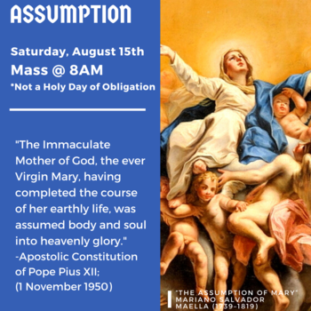 Mass & Procession for the Assumption of the Blessed Virgin Mary