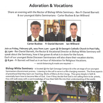 Vocations Adoration and Talk