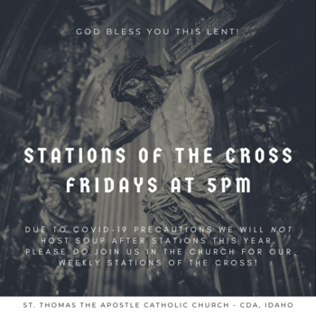 Stations of the Cross in the Church