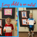 Holy Cross celebrates two 1st prize winners for the Superhero Art Contest