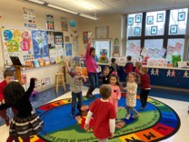 Holy ross pre-K students in classroom