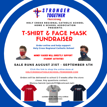 Home & School Association  <div>   T-shirt & Face Mask Fundraiser </div>