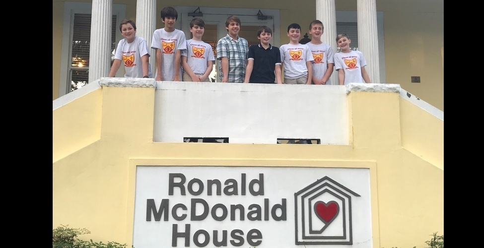 7th Graders at Ronald McDonald House