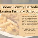 Lenten Fish Fry Schedule