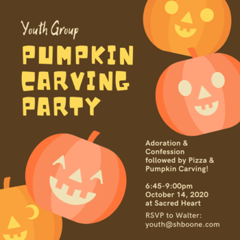 Sacred Heart/St. John Youth Group - Pumpkin Carving & Pizza