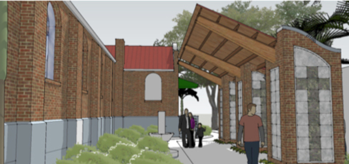Artists rendering of Tom Bahringer Memorial Garden
