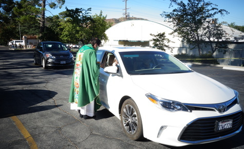 Drive-Through Holy Communion