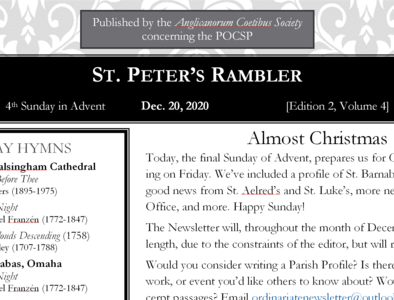 St. Peter's Rambler: 4th Sunday of Advent