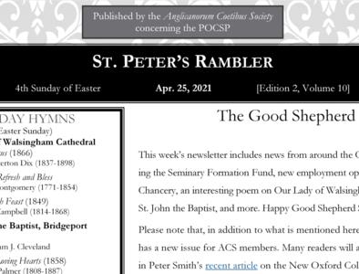 St. Peter's Rambler: 4th Sunday of Easter