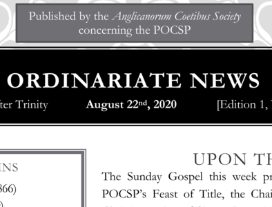 Ordinariate Newsletter: 11th Sunday after Trinity