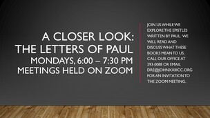 Monday Night Bible Study: Letters of Paul