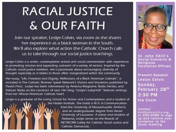 RACIAL JUSTICE AND OUR FAITH