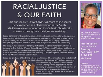 Racial Justice & Our Faith